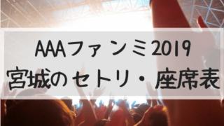 AAAファンミ 2019 宮城 セトリ 座席 グッズ