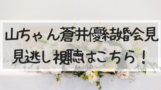 山ちゃん蒼井優結婚会見見逃し動画視聴