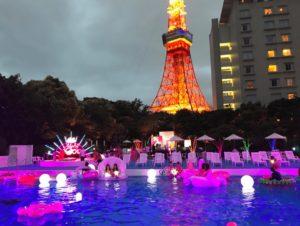 東京プリンスホテル,ナイトプール,cancamナイトプール,2019,混雑,期間,アクセス