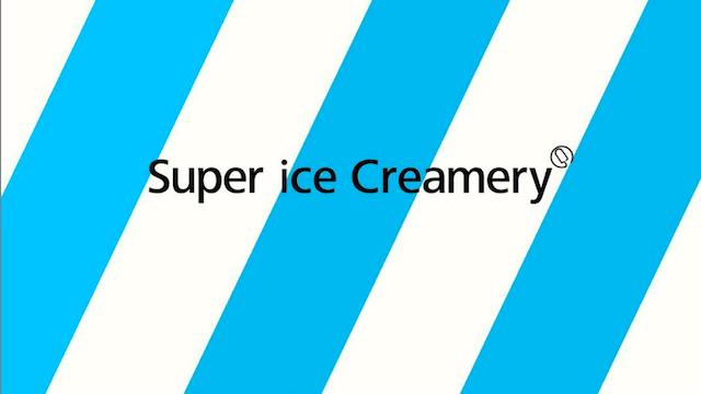 スーパーアイスクレマリー,super ice creamery,真っ青,生ソフト,ソフトクリーム