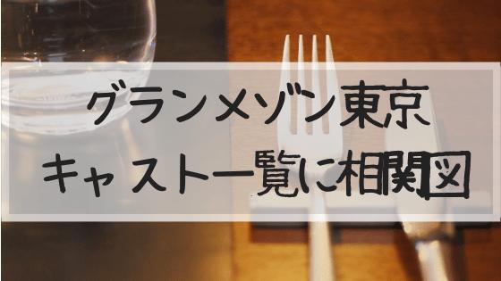グランメゾン東京,キャスト,相関図,ゲスト,木村拓哉