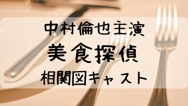 美食探偵ドラマ、相関図キャスト